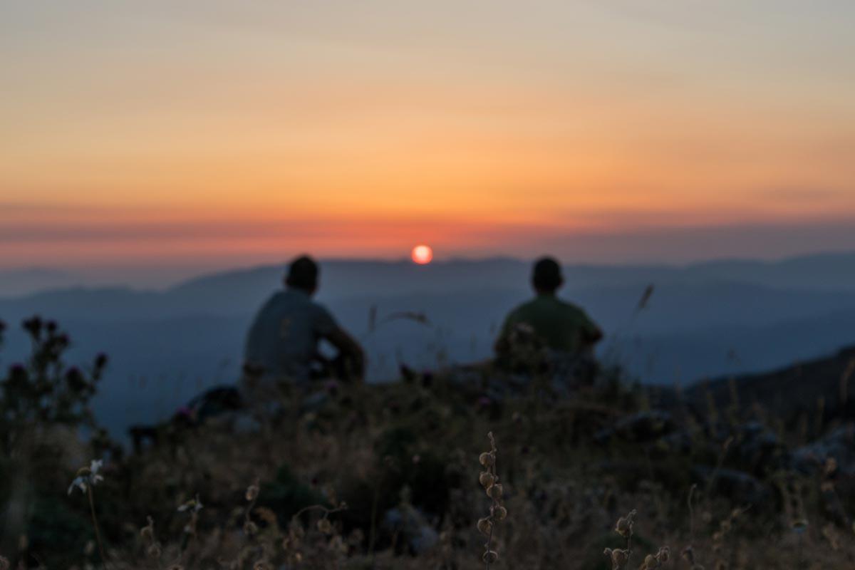 Vista al Tramondo sul Monte Navegna