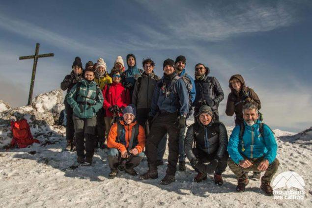 Gruppo in escursione sul Monte Navegna