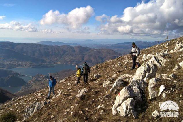 Vista del Lago del Turano dal Monte Navegna