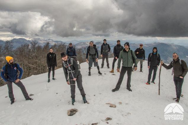 foto gruppo escursione monte cairo