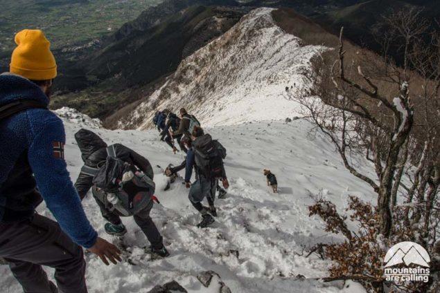 discesa su neve monte cairo