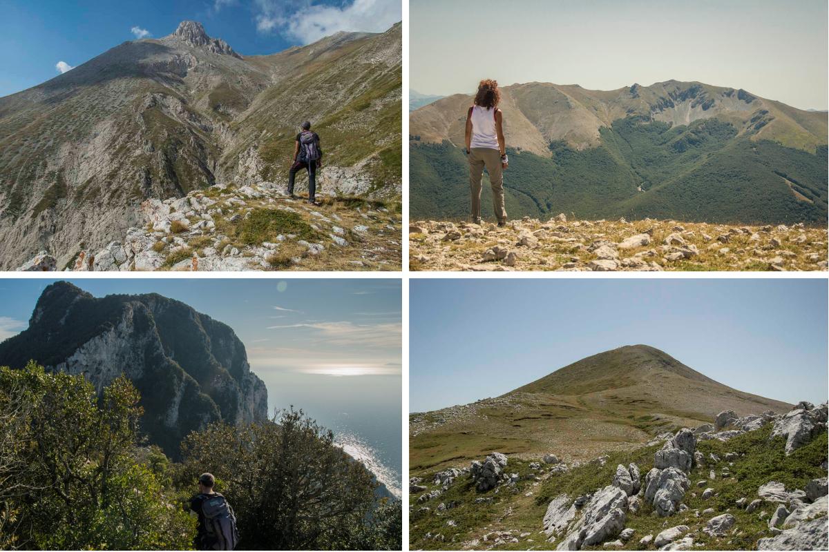 mix di foto naturalistiche, Circeo, Monte Viglio, Monte Cotento e Monte Camicia
