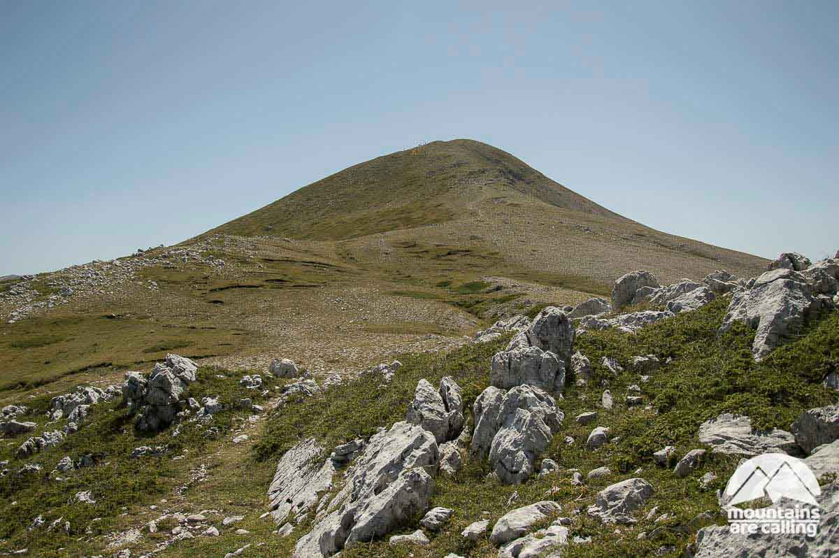 Immagine di una verde montagna