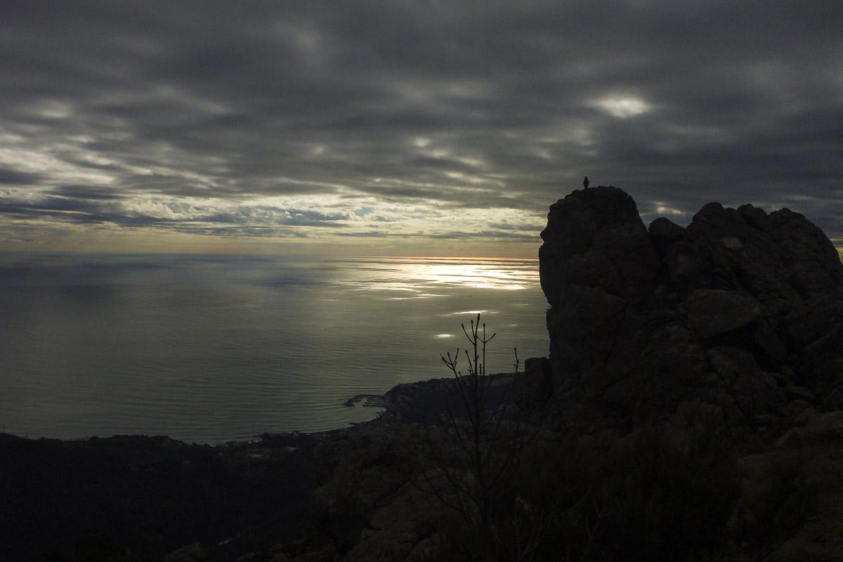 Immagine del Mar Ligure dal Monte Argentea