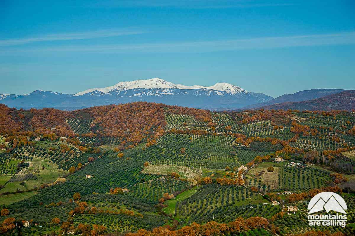 Immagine del Monte Terminillo visto dal Monte Serrapopolo