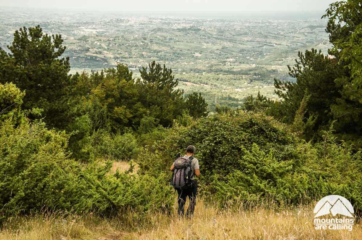 Escursionista sulla Majella
