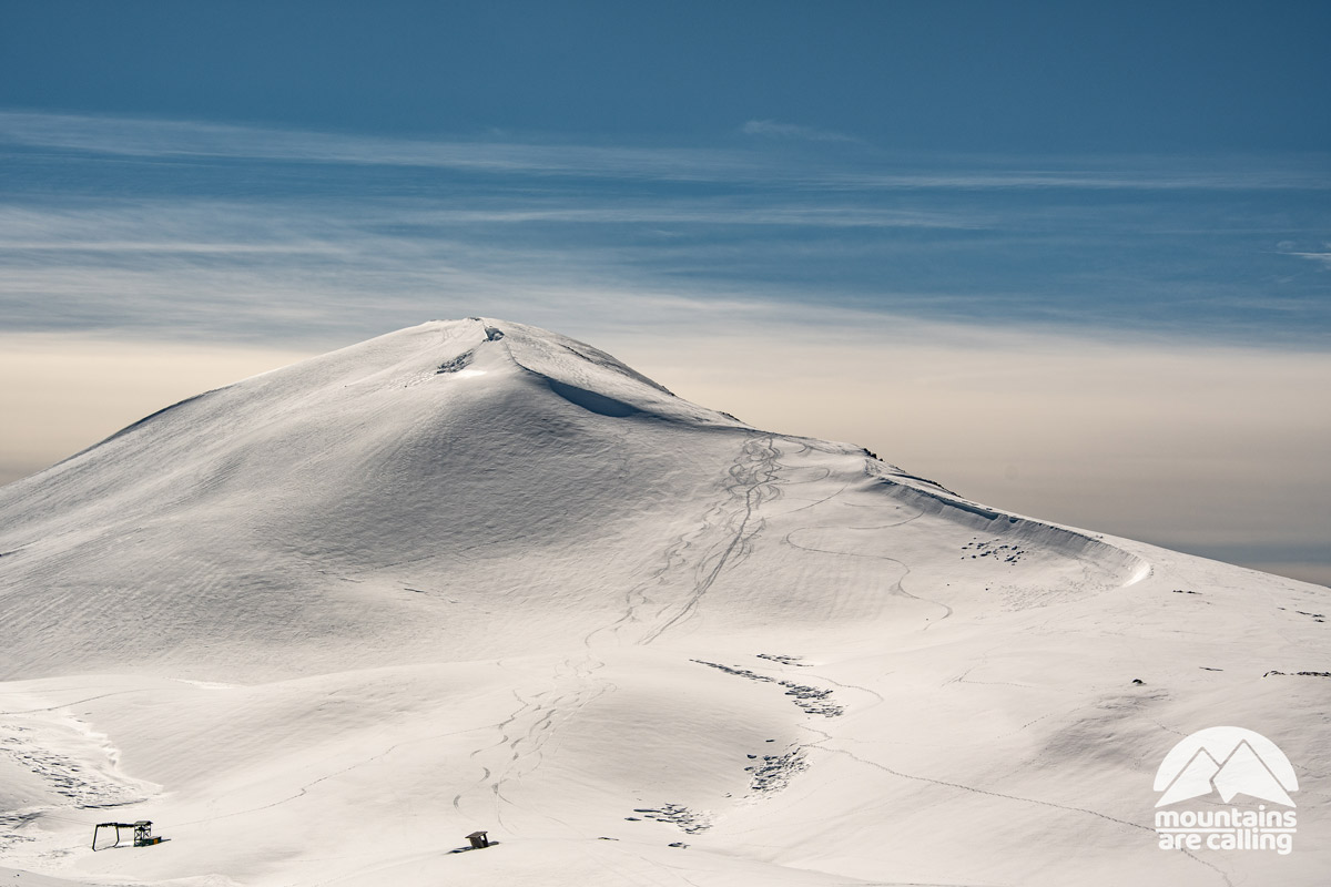 Montagna ricoperta da neve