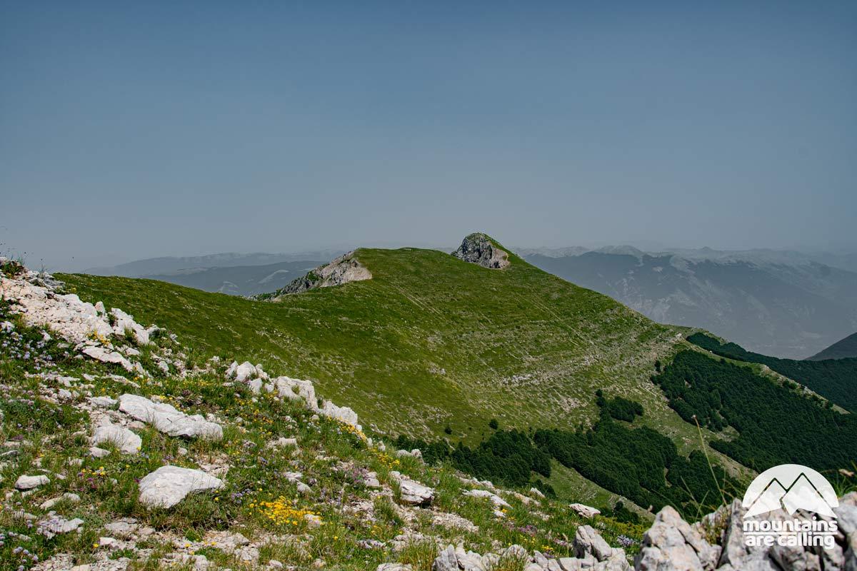 cresta di una montagna